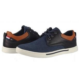 Мъжки ежедневни обувки с връзки Otas сини