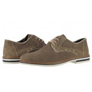 Мъжки елегантни обувки от естествен велур Rieker сиви B1435-42