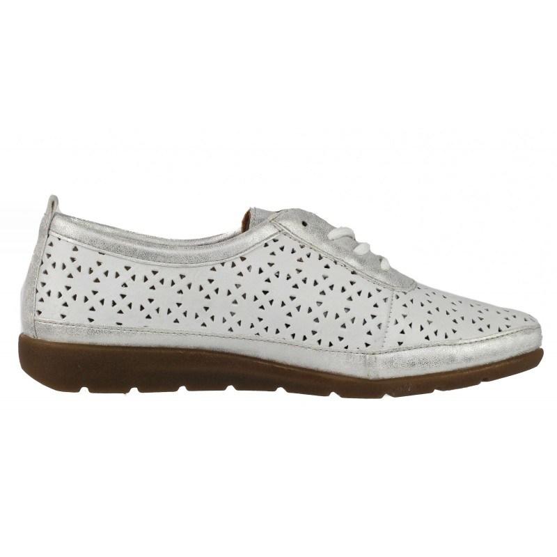 Дамски пролетно-летни обувки от естествена кожа Remonte D1904-80 бели