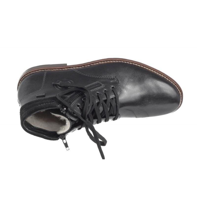 Мъжки боти естествена кожа Rieker Tex черни 35301-00