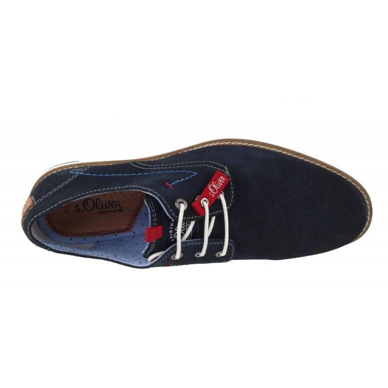 Мъжки елегантни обувки от естествена кожа S.Oliver сини