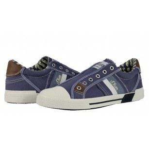 Мъжки спортни обувки без връзки S.Oliver светло сини