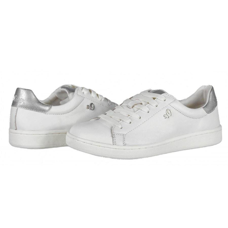 a41b7e601f8 ✓ Дамски спортни обувки кецове S.Oliver бели естествена кожа мемори ...