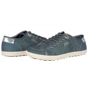 Дамски спортни обувки с връзки S.Oliver сини мемори пяна