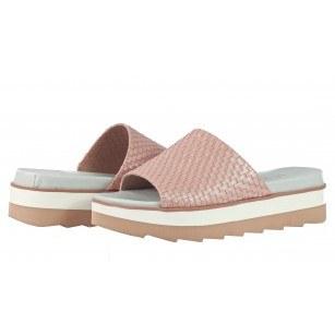 Дамски чехли на платформа S.Oliver розови