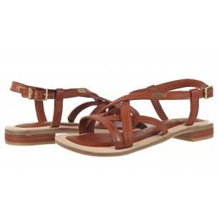 Дамски равни сандали от естествена кожа S.Oliver кафяви