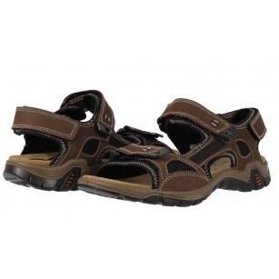 Мъжки спортни сандали от набук Salamander кафяви