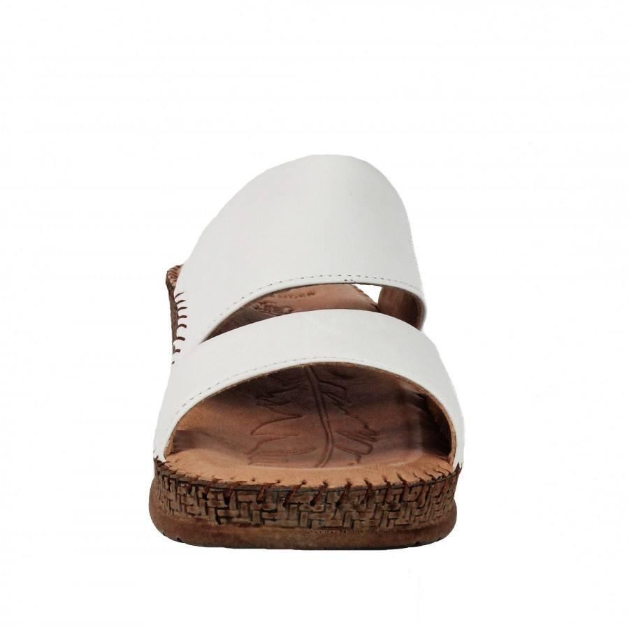 49600418b96 ... Дамски чехли на платформа естествена кожа Salamander бели ...