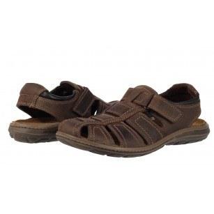 Мъжки затворени сандали от естествена кожа Salamander кафяви