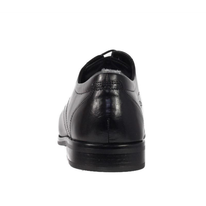 Мъжки елегантни обувки от естествена кожа Salamander черни