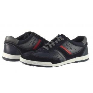 Мъжки спортни обувки от естествена кожа Salamander сини
