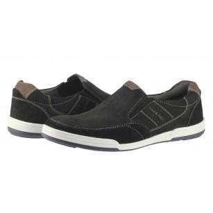 Мъжки обувки от естествена кожа без връзки Salamander черни