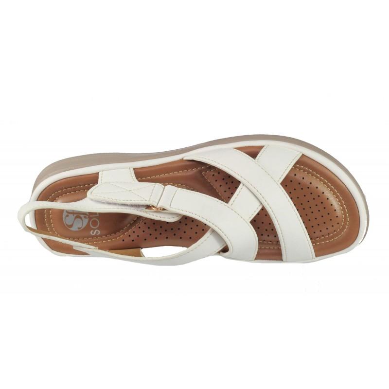 Дамски анатомични сандали Solfit бели