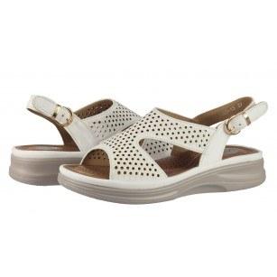 Дамски анатомични сандали Solfit Ishtar бели
