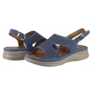 Дамски анатомични сандали Solfit сини