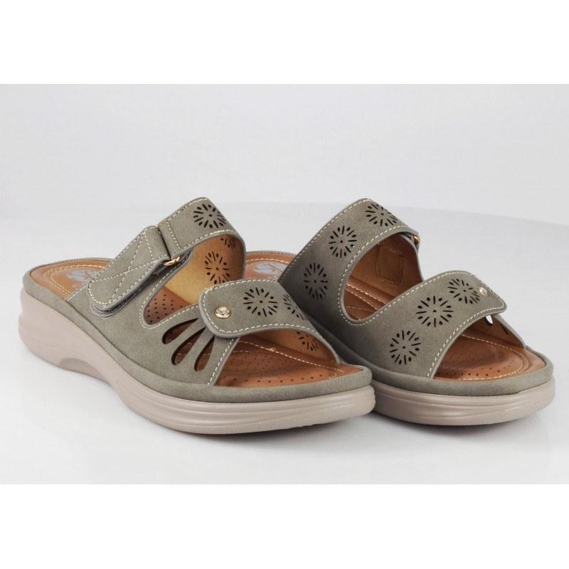 Дамски анатомични чехли Solfit сиви