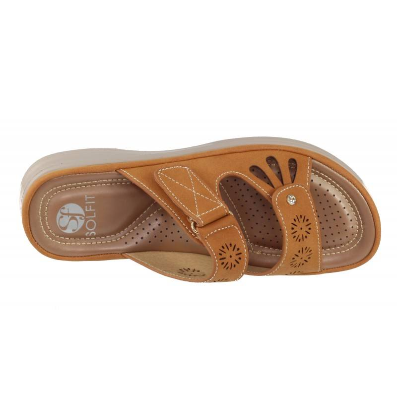 Дамски анатомични чехли Solfit оранжеви