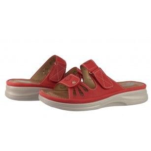 Дамски анатомични чехли Solfit Diana червени