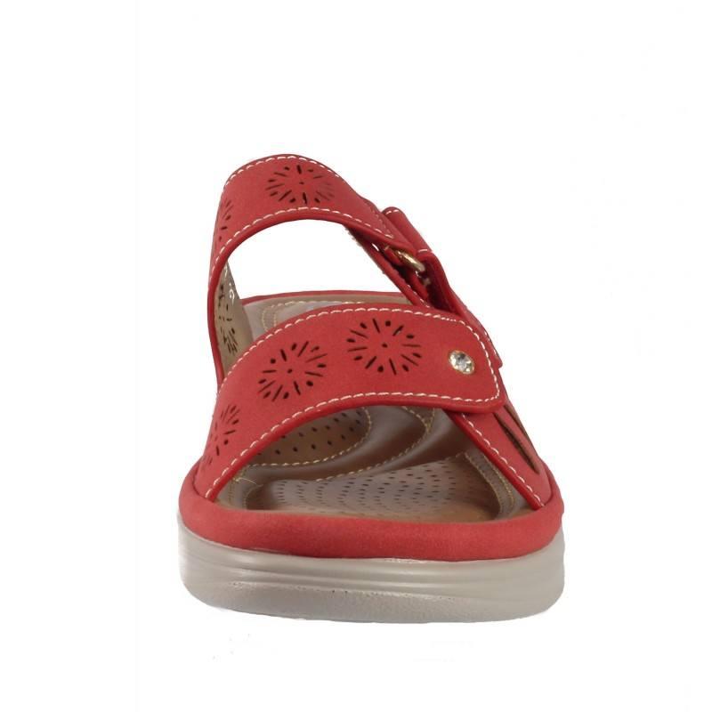 Дамски анатомични чехли Solfit червени