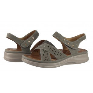 Дамски анатомични сандали Solfit сиви