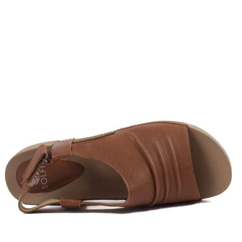 Дамски анатомични сандали от естествена кожа Solfit кафяви