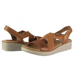 Дамски анатомични сандали Solfit кафяви