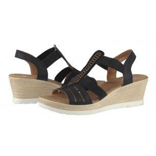 Дамски сандали на платформа Solfit черни