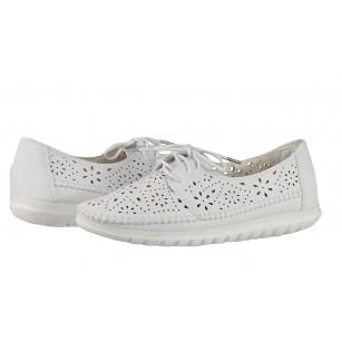 Дамски анатомични обувки с перфорация Solfit Angelica бели