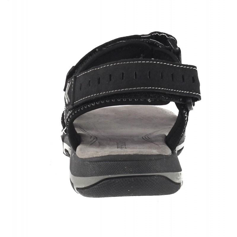 Мъжки анатомични сандали с лепки Sprox черни