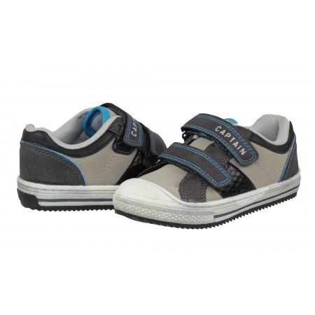 Детски спортни обувки с велкро/лепки Sprox сиви/бели за момче