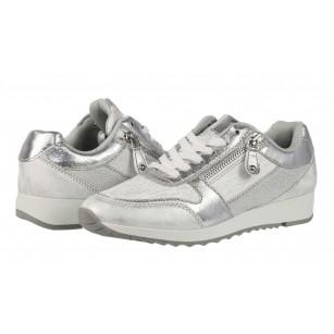 Дамски спортни обувки на платформа Sprox сребристи