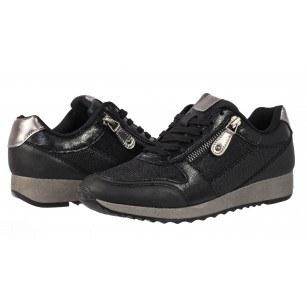 Дамски спортни обувки на платформа Sprox черни