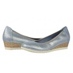 Дамски обувки на платформа Sprox мемори пяна сини/металик