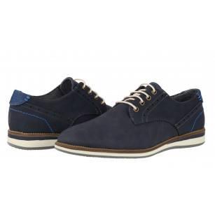Мъжки спортно-елегантни обувки с връзки Sprox сини