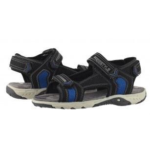 Детски анатомични сандали с лепки Sprox черни 32-39