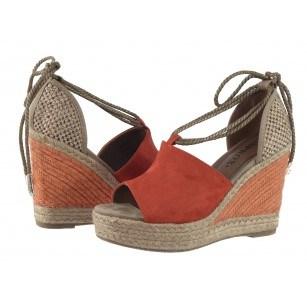 Дамски сандали на плаформа Sprox оранжеви