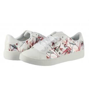Дамски спортни обувки от марката Sprox бели с цветя