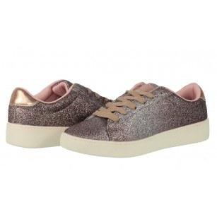 Дамски спортни обувки с връзки Sprox розови брокат