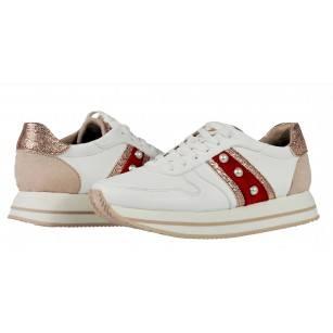 Дамски спортни обувки Tamaris бели мемори пяна