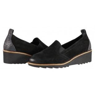 Дамски ежедневни обувки на платформа Tamaris черни мемори пяна
