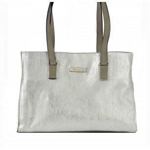 Дамска средна чанта Tamaris сребриста