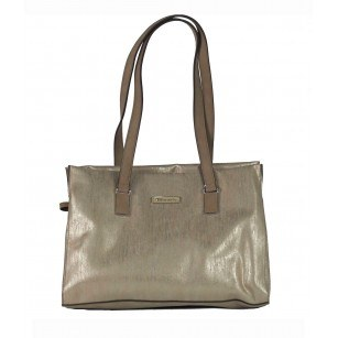 Дамска средна чанта Tamaris бежов металик