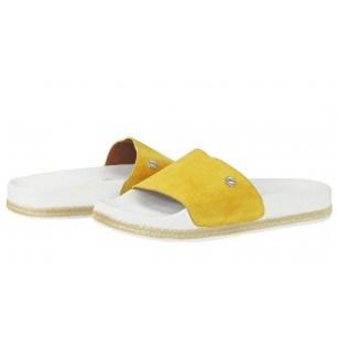 Дамски анатомични чехли Tamaris slide жълти