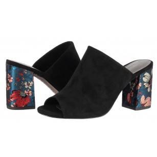 Дамски елегантни чехли на ток Tamaris черни
