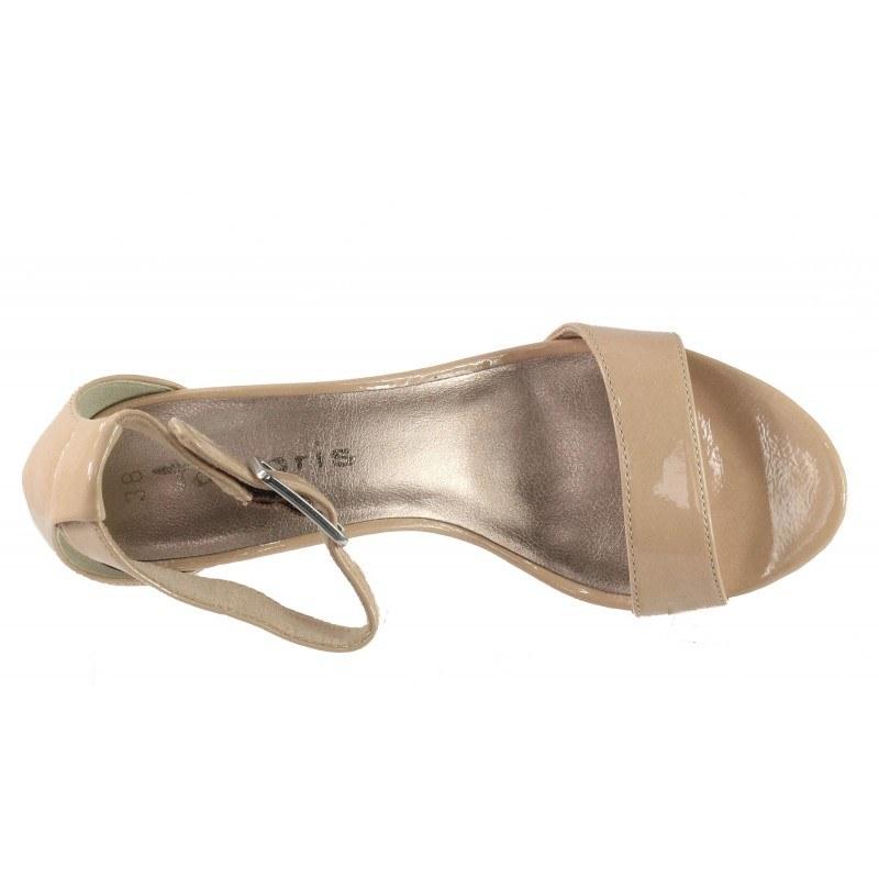 Дамски елегантни сандали на ток Tamaris бежови