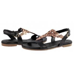 Дамски сандали от естествена кожа Tamaris черни Touch it