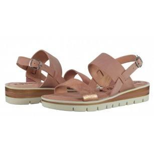 Дамски сандали от естествена кожа Tamaris розови Тouch it