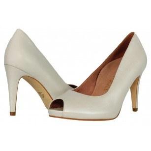 Дамски елегантни обувки Tamaris естествена кожа  HEART & SOLE бели
