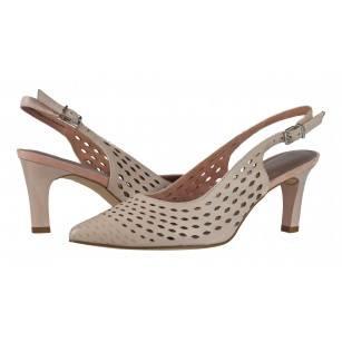 Дамски сандали на ток Tamaris естествена кожа мемори пяна розови