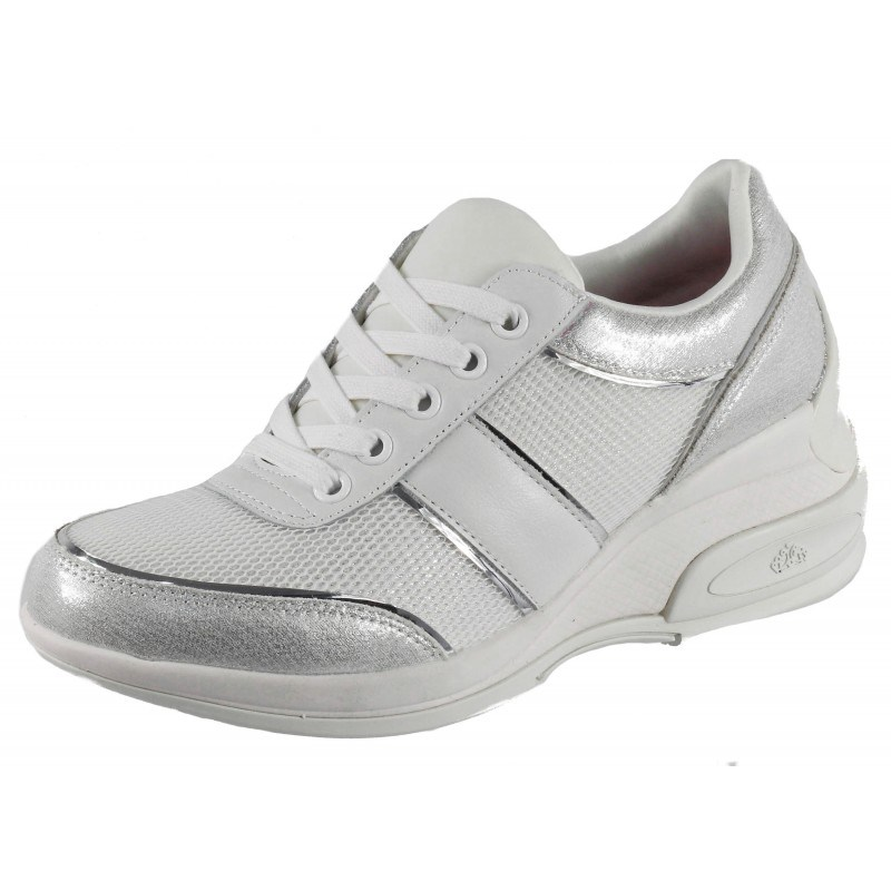 Дамски спортни обувки с платформа Fornarina бели